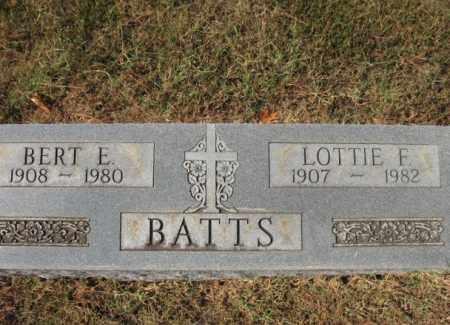 BATTS, BERT E - St. Francis County, Arkansas | BERT E BATTS - Arkansas Gravestone Photos