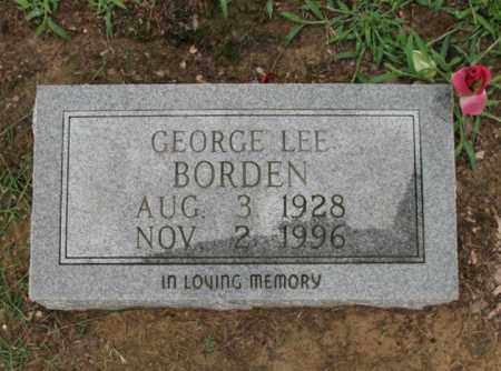 BORDEN, GEORGE LEE - St. Francis County, Arkansas | GEORGE LEE BORDEN - Arkansas Gravestone Photos