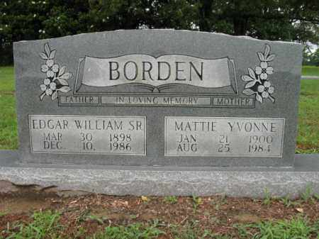 BORDEN, SR, EDGAR WILLIAM - St. Francis County, Arkansas | EDGAR WILLIAM BORDEN, SR - Arkansas Gravestone Photos