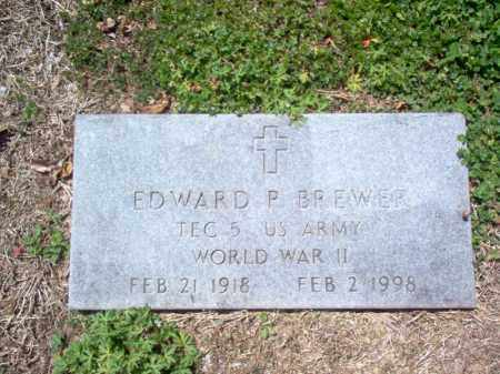 BREWER (VETERAN WWII), EDWARD P - St. Francis County, Arkansas | EDWARD P BREWER (VETERAN WWII) - Arkansas Gravestone Photos