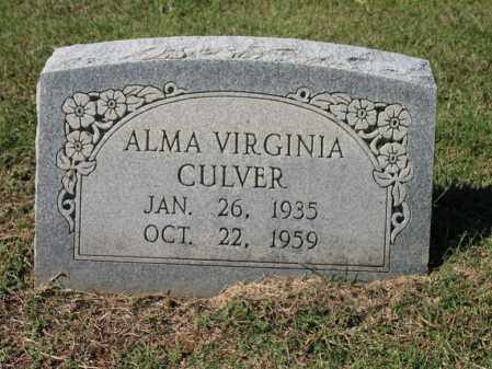 CULVER, ALMA VIRGINIA - St. Francis County, Arkansas | ALMA VIRGINIA CULVER - Arkansas Gravestone Photos