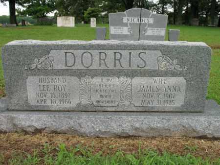 DORRIS, JAMES ANNA - St. Francis County, Arkansas | JAMES ANNA DORRIS - Arkansas Gravestone Photos