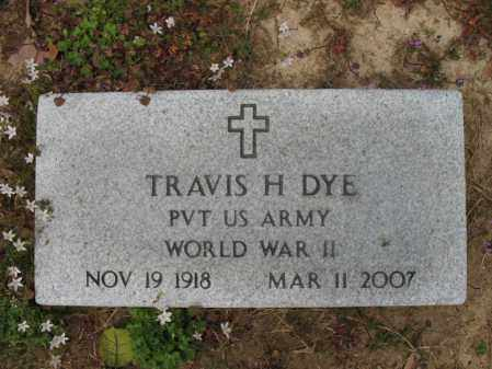 DYE (VETERAN WWII), TRAVIS H - St. Francis County, Arkansas | TRAVIS H DYE (VETERAN WWII) - Arkansas Gravestone Photos