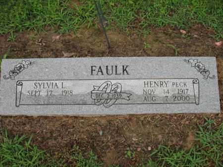"FAULK, HENRY ""PECK"" - St. Francis County, Arkansas 