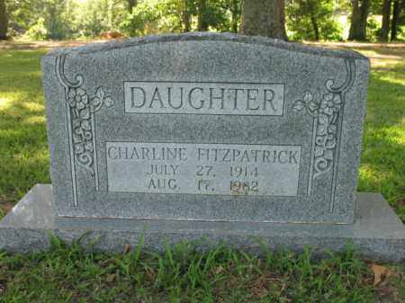 FITZPATRICK, CHARLINE - St. Francis County, Arkansas | CHARLINE FITZPATRICK - Arkansas Gravestone Photos