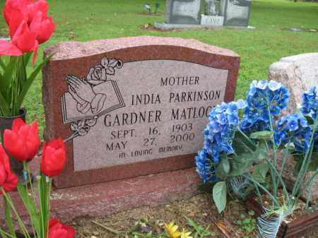 PARKINSON GARDNER-MATLOCK, INDIA - St. Francis County, Arkansas | INDIA PARKINSON GARDNER-MATLOCK - Arkansas Gravestone Photos