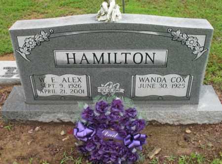 "HAMILTON, WILBUR E ""ALEX"" - St. Francis County, Arkansas | WILBUR E ""ALEX"" HAMILTON - Arkansas Gravestone Photos"