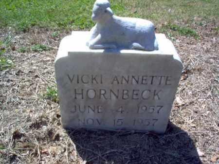 HORNBECK, VICKI - St. Francis County, Arkansas | VICKI HORNBECK - Arkansas Gravestone Photos