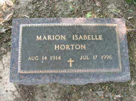 HORTON, MARION ISABELLE - St. Francis County, Arkansas | MARION ISABELLE HORTON - Arkansas Gravestone Photos