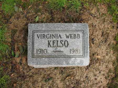 WEBB KELSO, VIRGINIA - St. Francis County, Arkansas | VIRGINIA WEBB KELSO - Arkansas Gravestone Photos