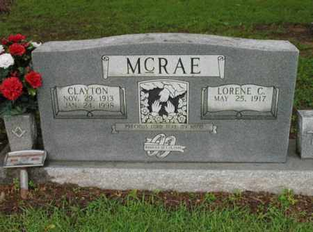 MCRAE, CLAYTON - St. Francis County, Arkansas | CLAYTON MCRAE - Arkansas Gravestone Photos
