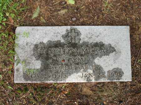 MCRAE (VETERAN WWII), CLAYTON - St. Francis County, Arkansas | CLAYTON MCRAE (VETERAN WWII) - Arkansas Gravestone Photos