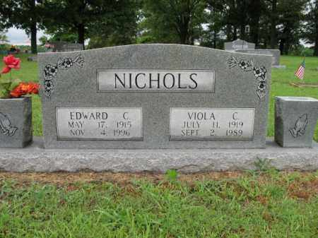 NICHOLS, EDWARD CLARENCE - St. Francis County, Arkansas | EDWARD CLARENCE NICHOLS - Arkansas Gravestone Photos