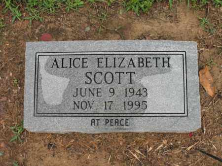 SCOTT, ALICE ELIZABETH - St. Francis County, Arkansas | ALICE ELIZABETH SCOTT - Arkansas Gravestone Photos
