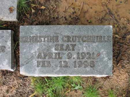 CRUTCHFIELD SEAY, ERNESTINE - St. Francis County, Arkansas | ERNESTINE CRUTCHFIELD SEAY - Arkansas Gravestone Photos