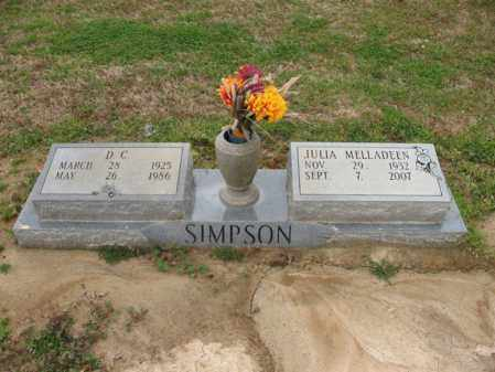 SIMPSON, JULIA MELLADEEN - St. Francis County, Arkansas | JULIA MELLADEEN SIMPSON - Arkansas Gravestone Photos