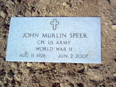 SPEER (VETERAN WWII), JOHN MURLIN - St. Francis County, Arkansas | JOHN MURLIN SPEER (VETERAN WWII) - Arkansas Gravestone Photos