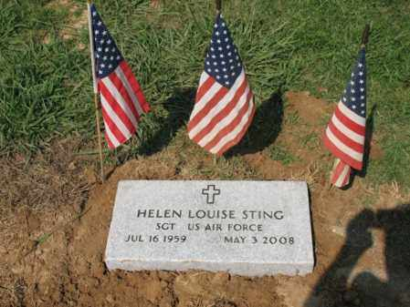 STING (VETERAN), HELEN LOUISE - St. Francis County, Arkansas | HELEN LOUISE STING (VETERAN) - Arkansas Gravestone Photos
