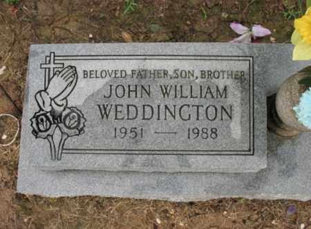 WEDDINGTON, JOHN WILLIAM - St. Francis County, Arkansas | JOHN WILLIAM WEDDINGTON - Arkansas Gravestone Photos