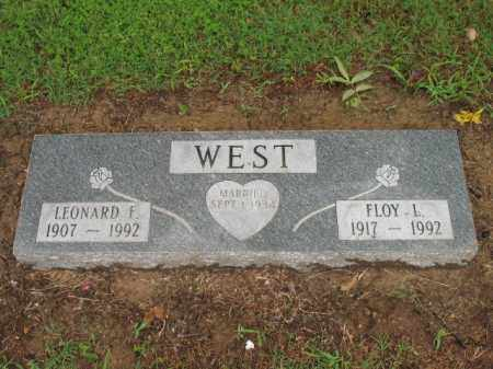 WEST, LEONARD F - St. Francis County, Arkansas | LEONARD F WEST - Arkansas Gravestone Photos