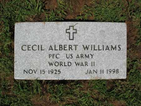 WILLIAMS (VETERAN WWII), CECIL ALBERT - St. Francis County, Arkansas | CECIL ALBERT WILLIAMS (VETERAN WWII) - Arkansas Gravestone Photos