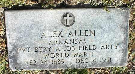 ALLEN  (VETERAN WWI), ALEX - Stone County, Arkansas | ALEX ALLEN  (VETERAN WWI) - Arkansas Gravestone Photos
