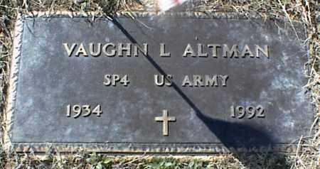 ALTMAN (VETERAN), VAUGHN L - Stone County, Arkansas | VAUGHN L ALTMAN (VETERAN) - Arkansas Gravestone Photos