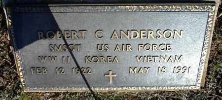 ANDERSON  (VETERAN 3 WARS), ROBERT C - Stone County, Arkansas | ROBERT C ANDERSON  (VETERAN 3 WARS) - Arkansas Gravestone Photos