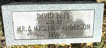 ANDERSON, DAVID EARL - Stone County, Arkansas | DAVID EARL ANDERSON - Arkansas Gravestone Photos