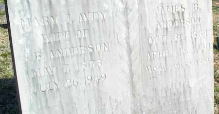 AVEY ANDERSON, MARY J. - Stone County, Arkansas | MARY J. AVEY ANDERSON - Arkansas Gravestone Photos