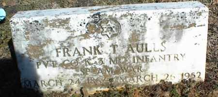 AULLS  (VETERAN SAW), FRANK T - Stone County, Arkansas | FRANK T AULLS  (VETERAN SAW) - Arkansas Gravestone Photos