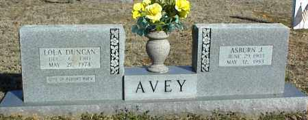 AVEY, ASBURN J. - Stone County, Arkansas | ASBURN J. AVEY - Arkansas Gravestone Photos
