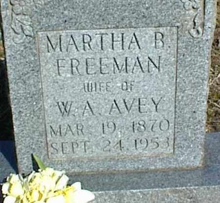 FREEMAN AVEY, MARTHA B. - Stone County, Arkansas | MARTHA B. FREEMAN AVEY - Arkansas Gravestone Photos