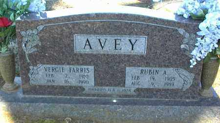 AVEY, RUBIN A. - Stone County, Arkansas | RUBIN A. AVEY - Arkansas Gravestone Photos