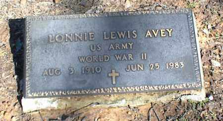 AVEY (VETERAN WWII), LONNIE LEWIS - Stone County, Arkansas | LONNIE LEWIS AVEY (VETERAN WWII) - Arkansas Gravestone Photos