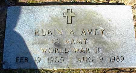 AVEY (VETERAN WWII), RUBIN A - Stone County, Arkansas | RUBIN A AVEY (VETERAN WWII) - Arkansas Gravestone Photos
