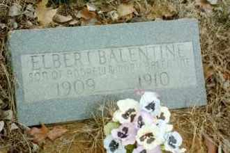 BALENTINE, ELBERT - Stone County, Arkansas | ELBERT BALENTINE - Arkansas Gravestone Photos