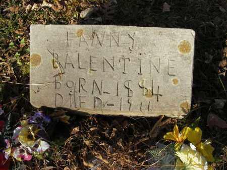 BALENTINE, FANNY - Stone County, Arkansas | FANNY BALENTINE - Arkansas Gravestone Photos