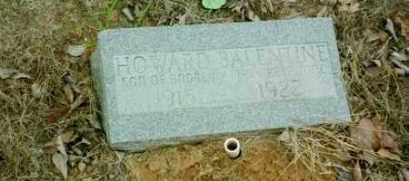 BALENTINE, HOWARD - Stone County, Arkansas | HOWARD BALENTINE - Arkansas Gravestone Photos