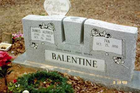 BALENTINE, JAMES ALFRED - Stone County, Arkansas | JAMES ALFRED BALENTINE - Arkansas Gravestone Photos