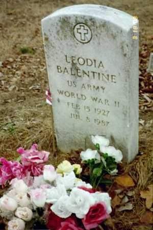 BALENTINE (VETERAN WWII), LEODIA - Stone County, Arkansas | LEODIA BALENTINE (VETERAN WWII) - Arkansas Gravestone Photos