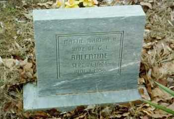 BALENTINE, MATTIE MARTHA - Stone County, Arkansas | MATTIE MARTHA BALENTINE - Arkansas Gravestone Photos