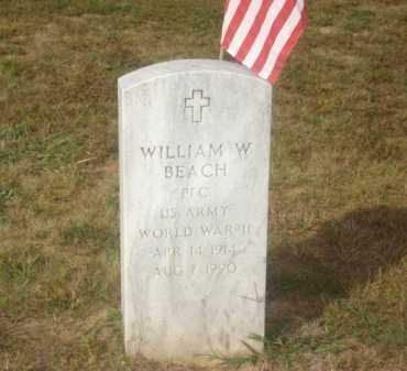 BEACH (VETERAN WWII), WILLIAM W - Stone County, Arkansas | WILLIAM W BEACH (VETERAN WWII) - Arkansas Gravestone Photos