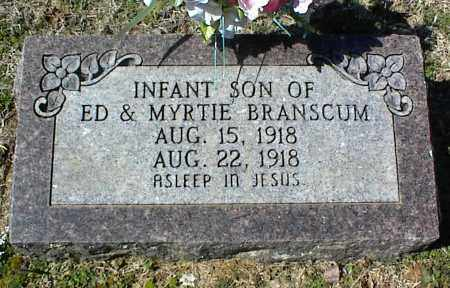 BRANSCUM, INFANT SON - Stone County, Arkansas | INFANT SON BRANSCUM - Arkansas Gravestone Photos