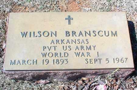 BRANSCUM  (VETERAN WWI), WILSON - Stone County, Arkansas | WILSON BRANSCUM  (VETERAN WWI) - Arkansas Gravestone Photos