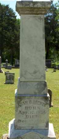 BREWER, ADAM BROWN - Stone County, Arkansas | ADAM BROWN BREWER - Arkansas Gravestone Photos