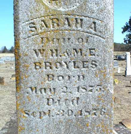 BROYLES, SARAH A. - Stone County, Arkansas | SARAH A. BROYLES - Arkansas Gravestone Photos