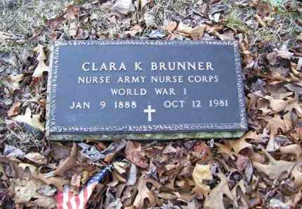 BRUNNER (VETERAN WWI), CLARA K - Stone County, Arkansas | CLARA K BRUNNER (VETERAN WWI) - Arkansas Gravestone Photos