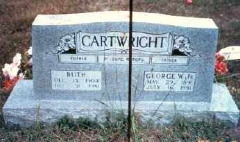 CARTWRIGHT, GEORGE W - Stone County, Arkansas | GEORGE W CARTWRIGHT - Arkansas Gravestone Photos