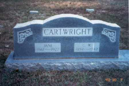 CARTWRIGHT, JULIA JANE - Stone County, Arkansas | JULIA JANE CARTWRIGHT - Arkansas Gravestone Photos